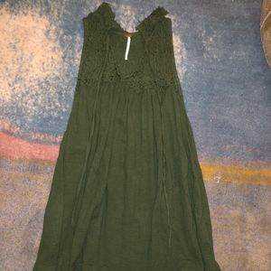 Free People Green Tunic